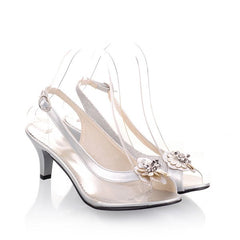 Slingback Transparent Plastic Sandals