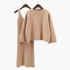Loose knitted casual Mini Dress