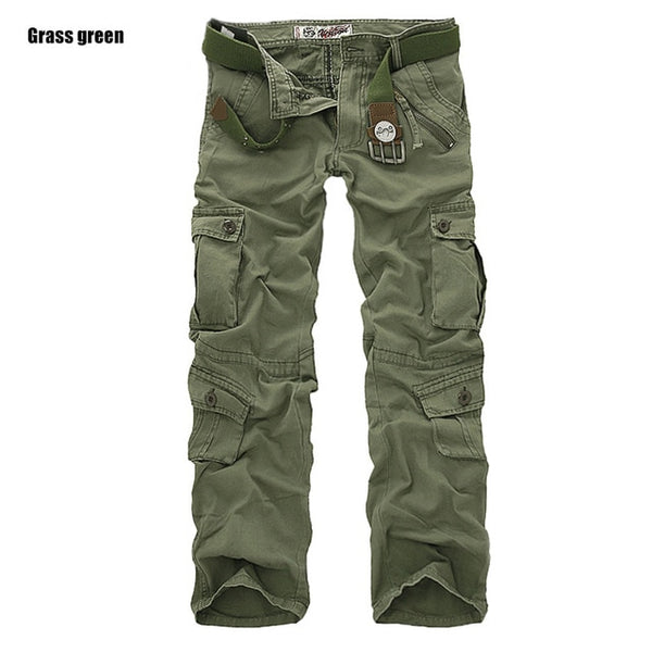 Loose men's camouflage trousers