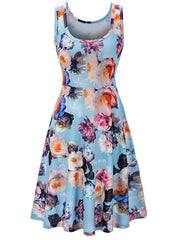 Flower A Line Casual Tank Dress