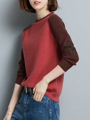 Winter Knit Spring Casual Women Color Contrast Sweater Plus Size Sweaters & Cardigans