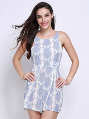Jumpsuits & Rompers Spring Women Sexy Holiday Daily Casual Print Bandage Backless Summer O-neck