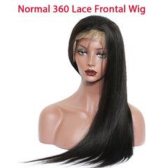 360 lace front wig and Liu Hai 150 density straight lace front hairpiece