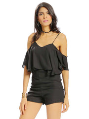 Jumpsuits & Rompers Daily Casual Holiday Spaghetti Straps Women Sexy Spaghetti Strap Off Shoulde