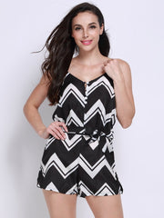 Jumpsuits & Rompers Striped Women Casual Stripe Off Shoulder Bandage Sleeveless Spring Jumpsuits