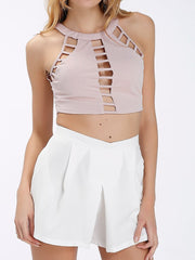 Sexy Hollow Summer Holiday Daily Casual Spring Women Crop Tops