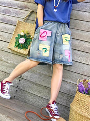 Denim & Jeans Patch Spring Summer Daily Casual Patchwork