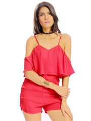 Jumpsuits & Rompers Daily Casual Holiday Off The shoulder Women Sexy Off-Shoulder Backelss High