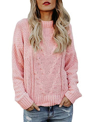 Women Daily Casual Autumn Winter Casual Round Neck Sweater Plus Size Sweaters & Cardigans