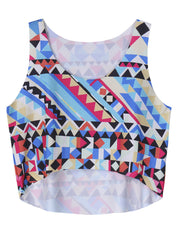Daily Casual Geometric O-neck Beach Short Tank Tops