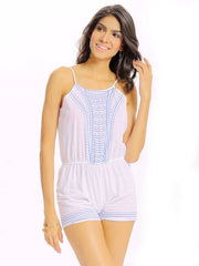 Jumpsuits & Rompers Summer Printed Daily Casual Women Casual Geometrical Printing Camisole O Nec