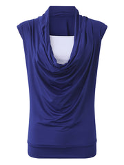 Cotton Women Heap Collar Casual Daily Casual Sleeveless Tank Tops