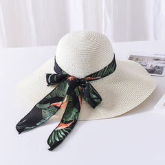 Female sun hat butterfly straw hat