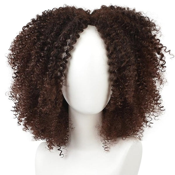 African twisted Curly Wig Natural 16-inch synthetic wig