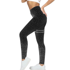 Solid Push Up Dot Printed High Waisted Workout Sports Running Pants