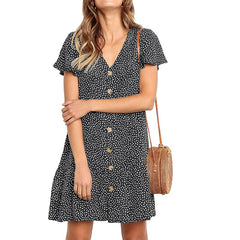 Printing Beach Party Dot Sundress Casual Dress