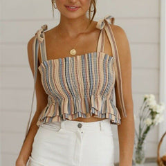 Female Summer Off Shoulder Tanks