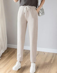 Fashion high waist casual loose pencil pants