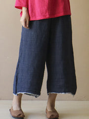 Denim & Jeans Summer Wide Leg Loose Casual Daily Casual Elastic Waist