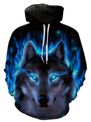 Women Spring Casula Hooded Daily Casual Wolf Hoodies Plus Size Hoodies & Sweatshirts