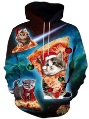 Women Hooded Autumn Daily Casual Cat Hoodies Plus Size Hoodies & Sweatshirts
