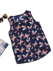 Tank Tops Basic Butterfly Printed O-neck Animal Overhead Daily Casual Tank Top