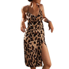 Leopard print V-neck Printed Dress
