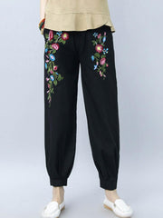 Pants & Capris Daily Casual Casual Loose Vintage Winter Basic Autumn Spring Women Harem Pa