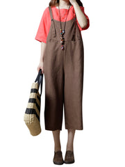 Jumpsuits & Rompers Summer Daily Casual Cotton Vintage Women Spaghetti Strap Wide Leg Jumpsuits