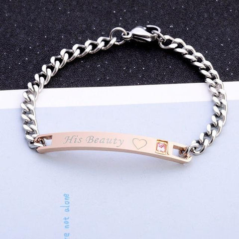 Premium King & Queen Couple's Bracelets (1 Pair)