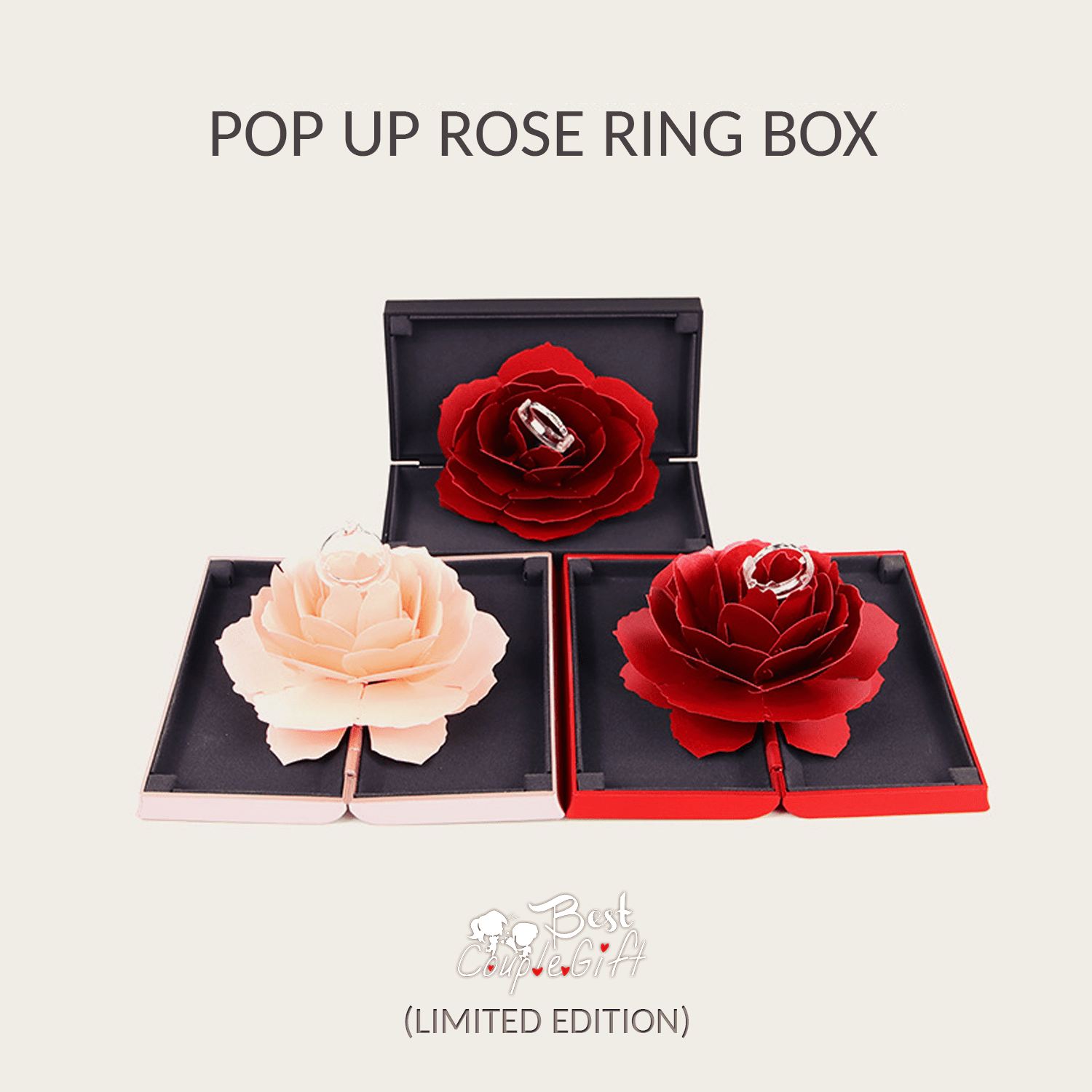 Pop Up Rose Ring Box (Limited Edition)