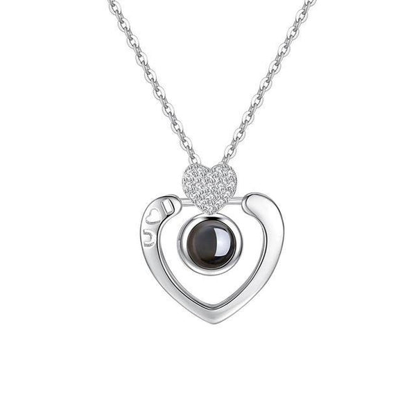 Bestcouplegifts Double Heart Silver Say