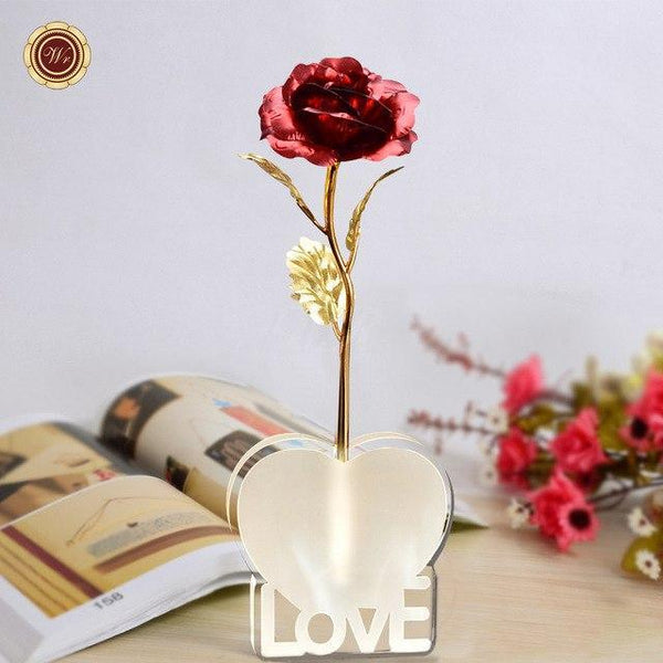 Bestcouplegifts Gold Foil Rose with Love Stand (Different Colours) giftidea gift couple lovers christmas anniversary birthday wedding