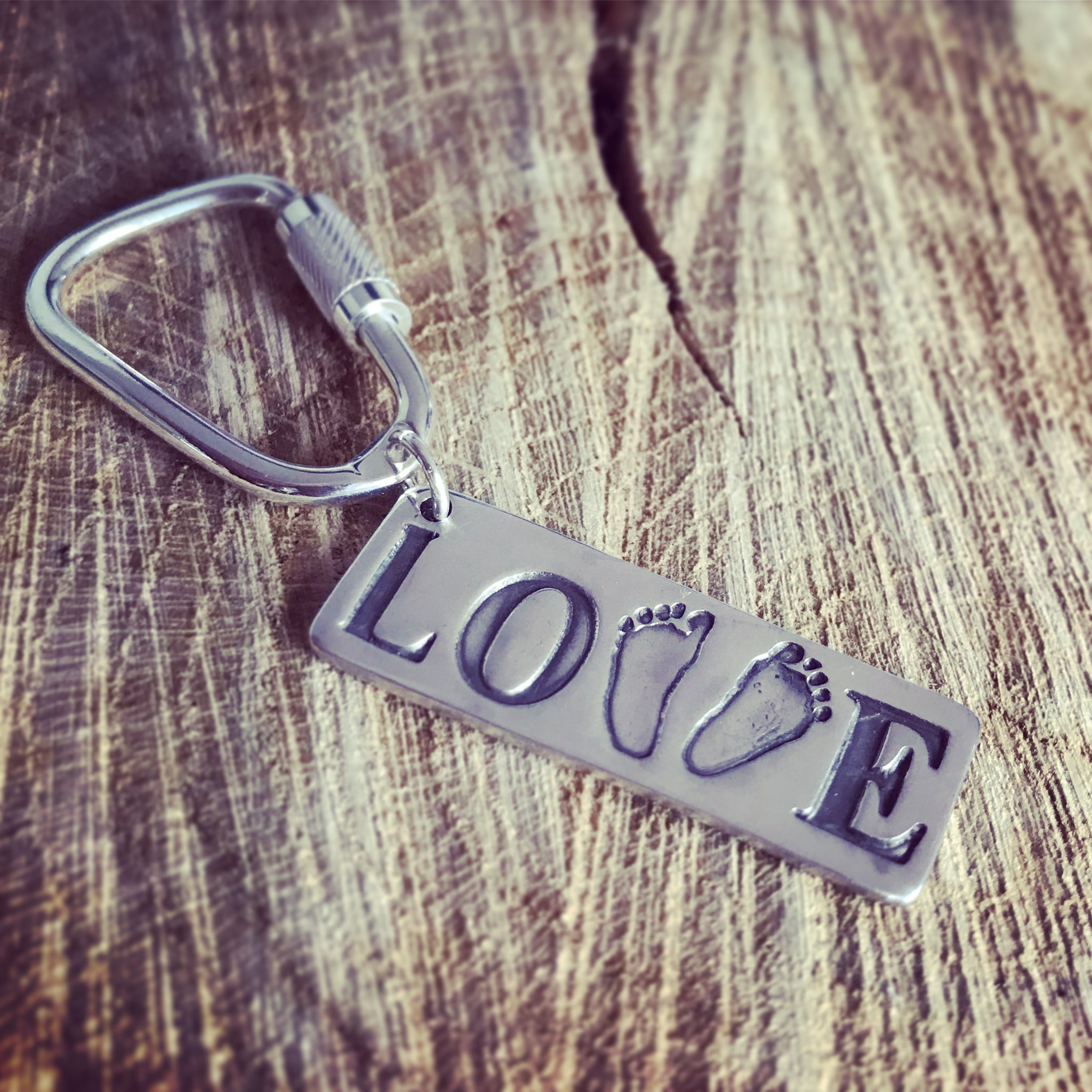 footprint love keyring