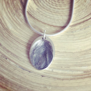 memorial fingerprint jewellery