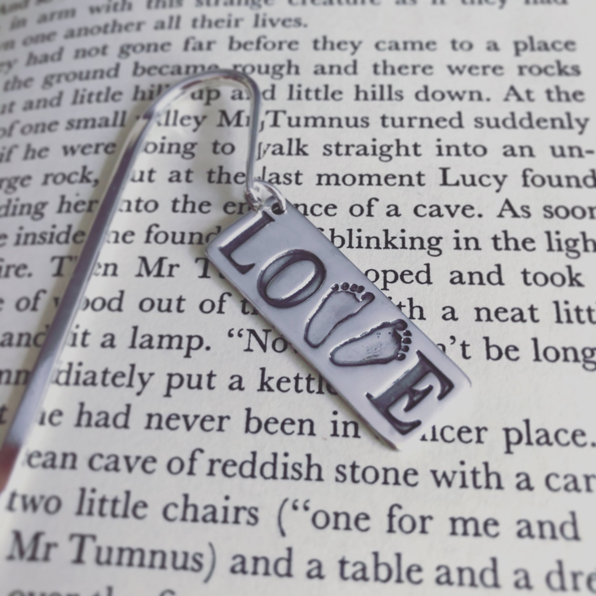 footprint love bookmark