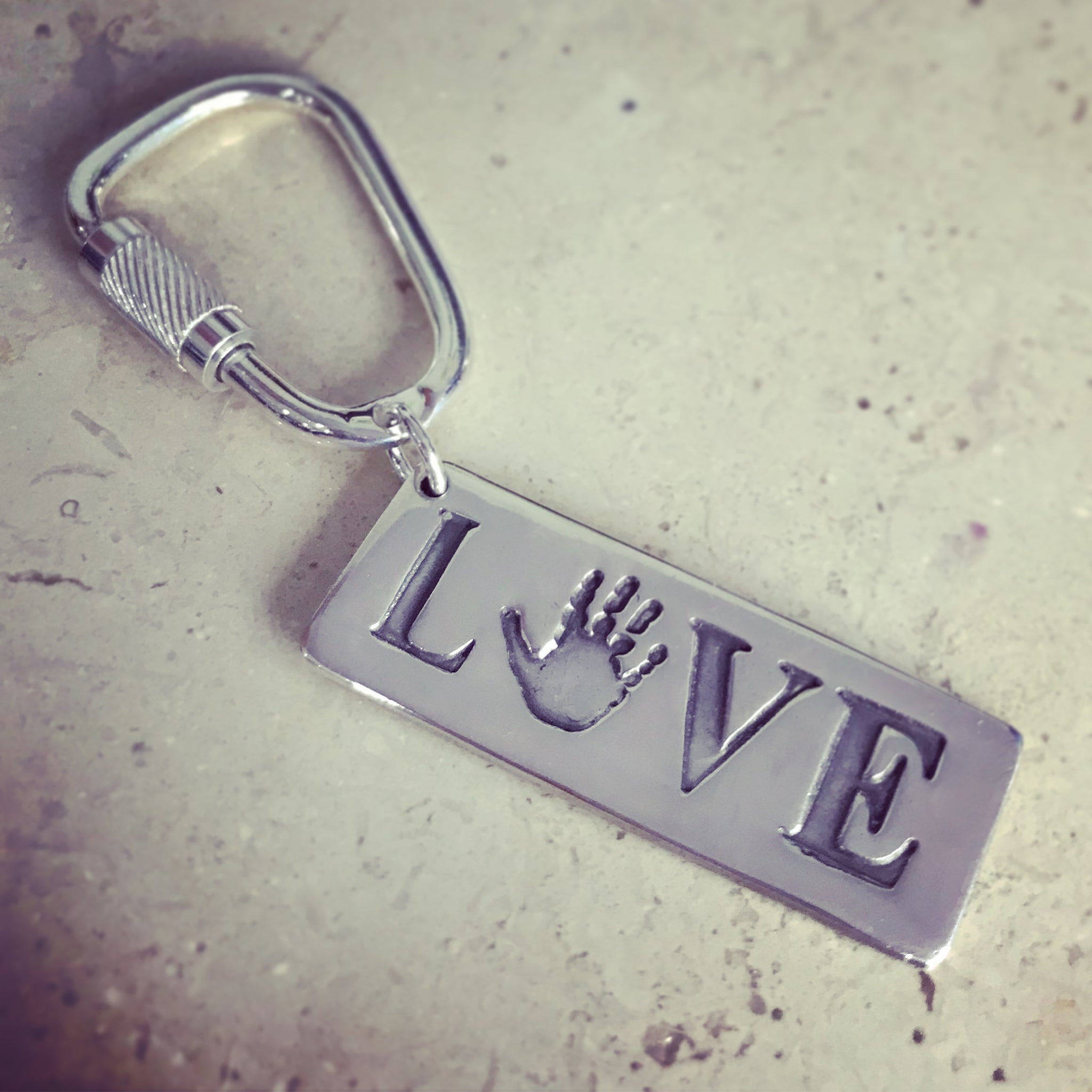 handprint LOVE keyring