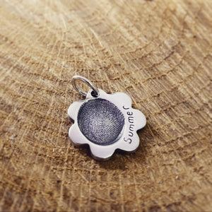 fingerprint flower pendant