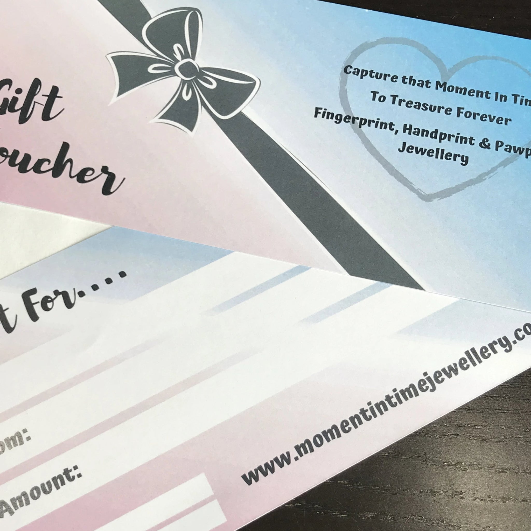 Fingerprint Jewellery Gift Voucher