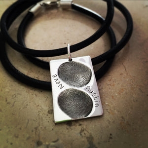 Double fingerprint dog tag