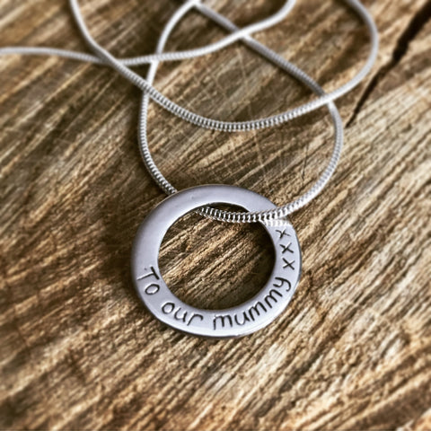 personalised pendant necklace