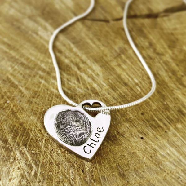 fingerprint heart to heart pendant