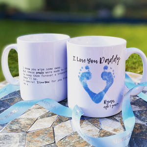 Foot Print Heart Personalised Mug