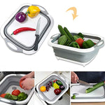 Collapsible Fold Cutting Board/Fold Drain Basket