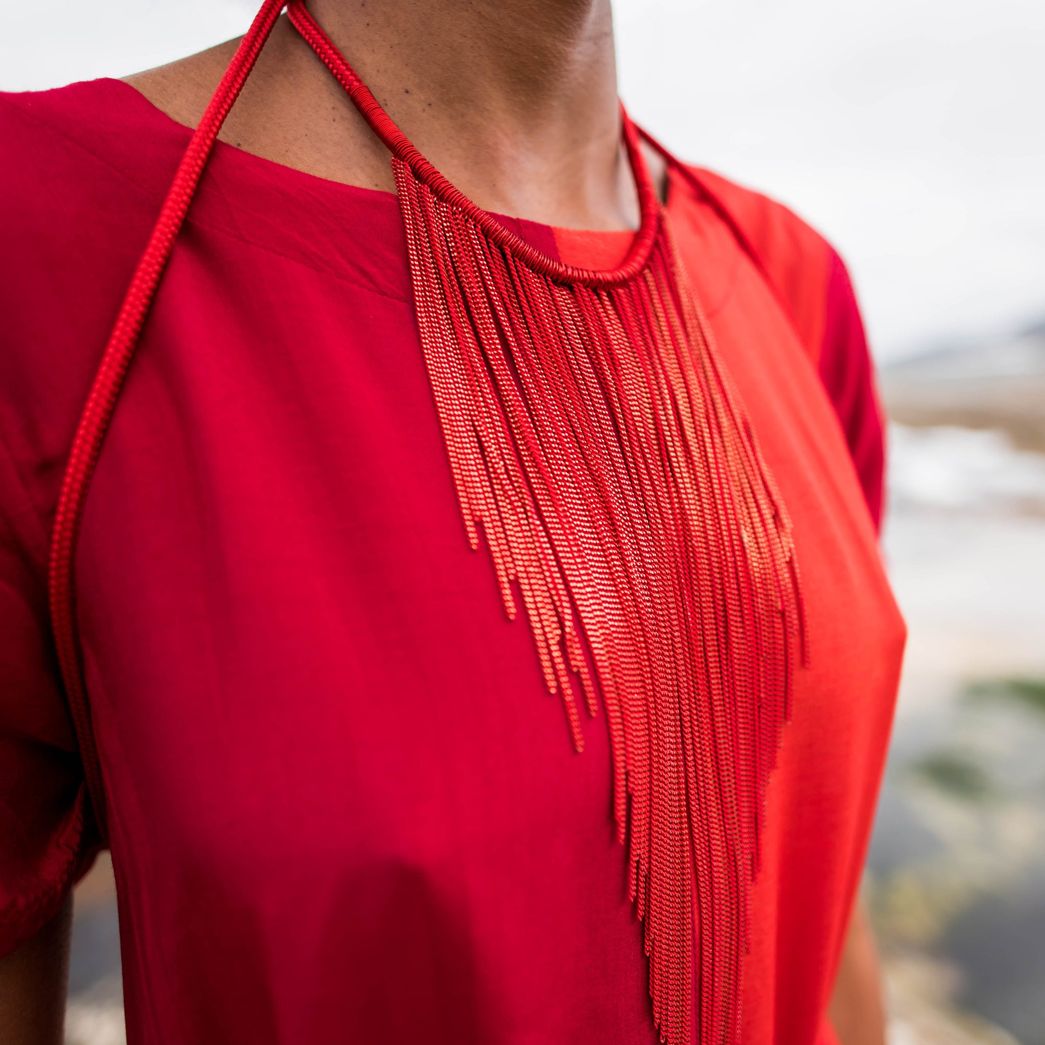 Rope Fringed 3 way necklace
