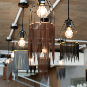 Chain Fringed Lights in Earth tones