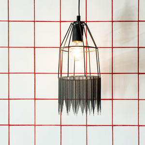 Medium Zig Zag Fringed Light
