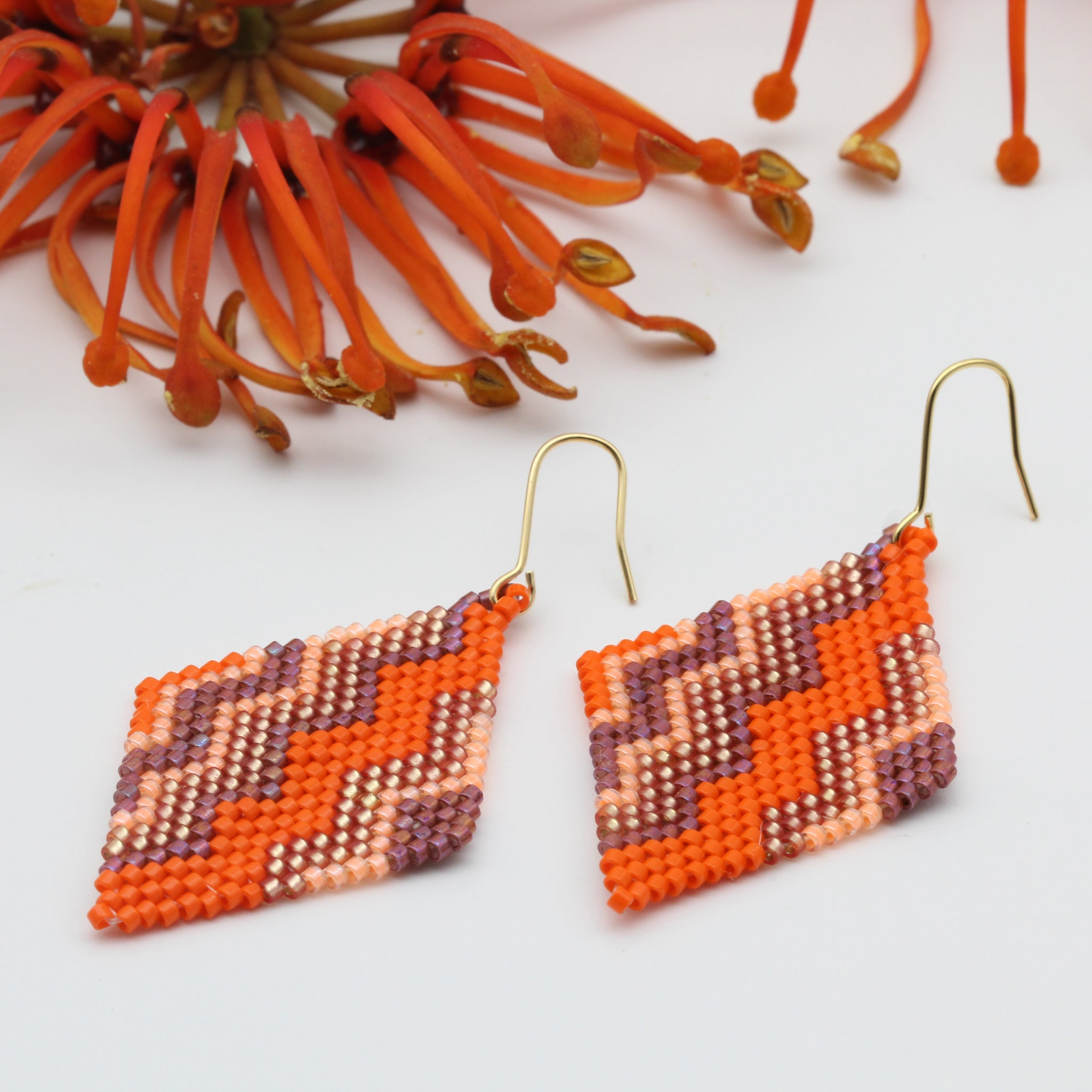 Coral Pop Zig Zag Earrings