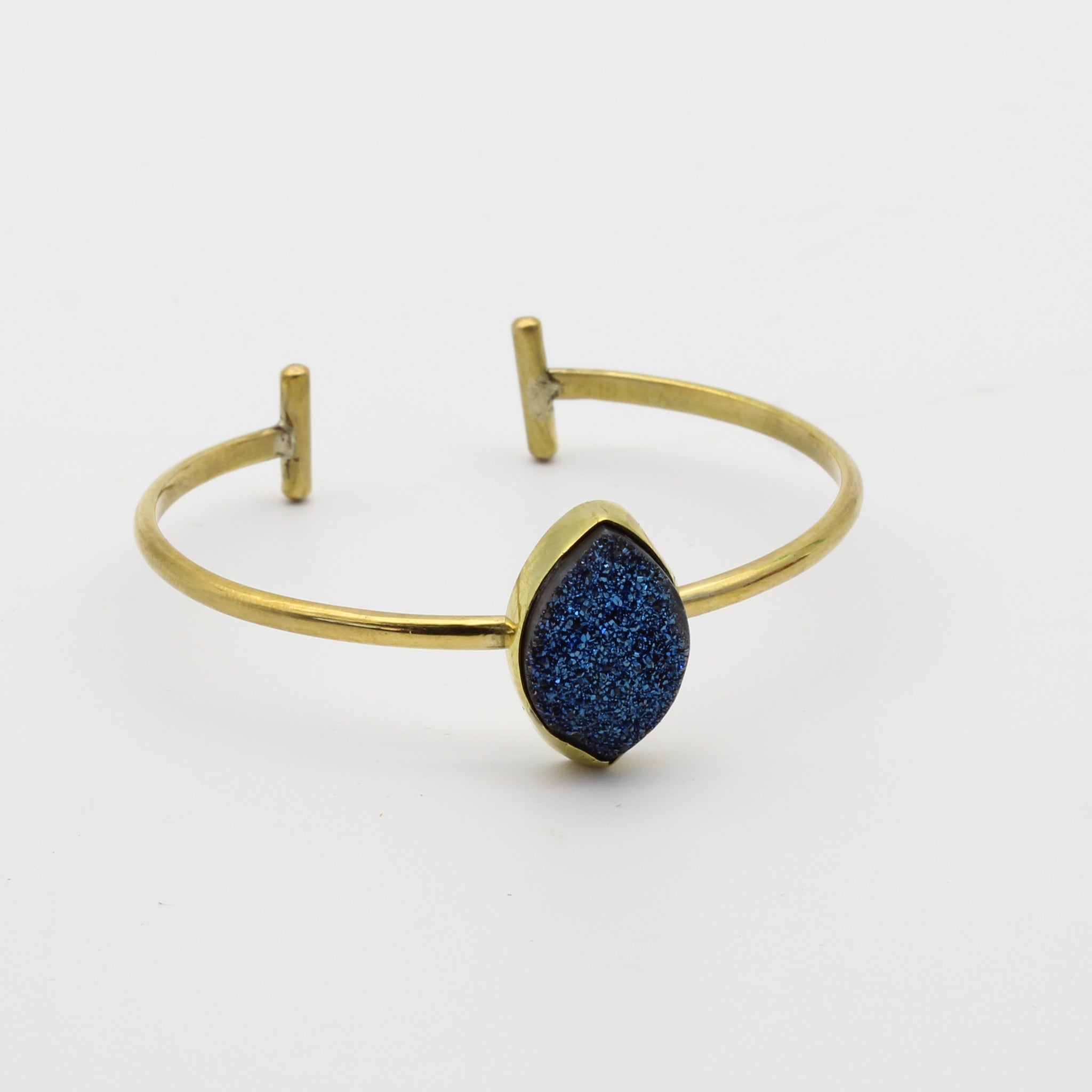 Druzy brass Bangle