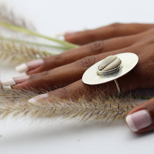 Cowrie Disc Silver